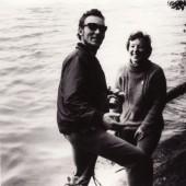 Su fotomenininku Antanu Miežansku. 1965 m.