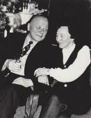 Su Juozu Baltušiu I. Simonaitytės namuose.1977 m.